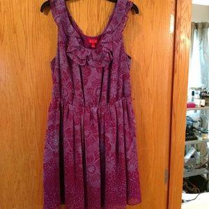 Cute Purple w/ Design Dress!
